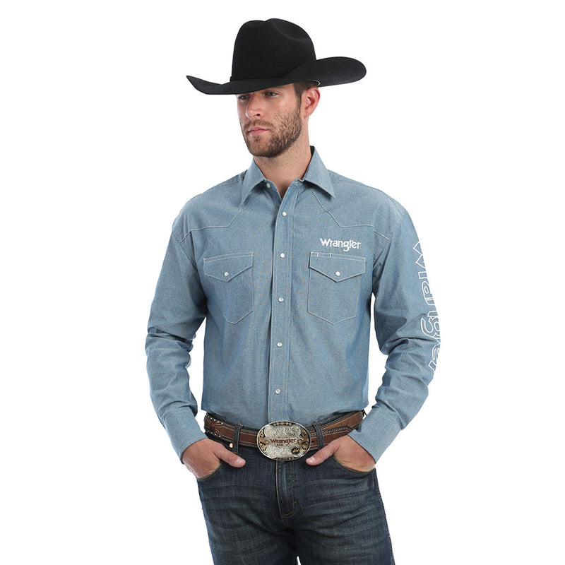 Wrangler® Denim Logo Shirt