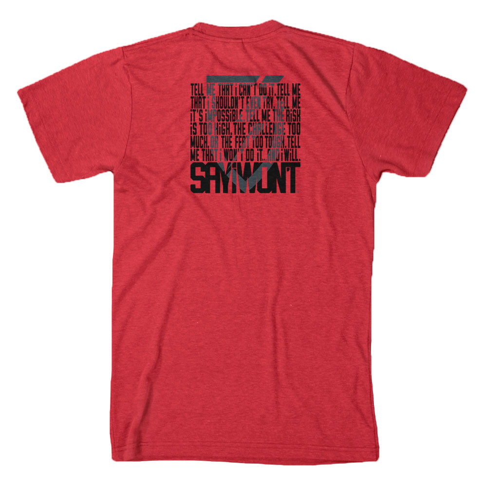 SAYiWON'T Within Creed Red T-Shirt