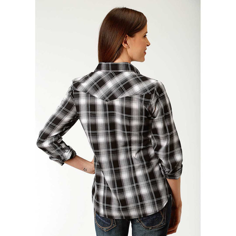Roper Black & White Plaid Shirt