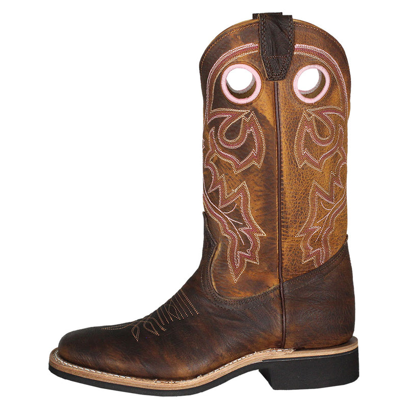 Boulet Amber Gold Bison Cowgirl Boots