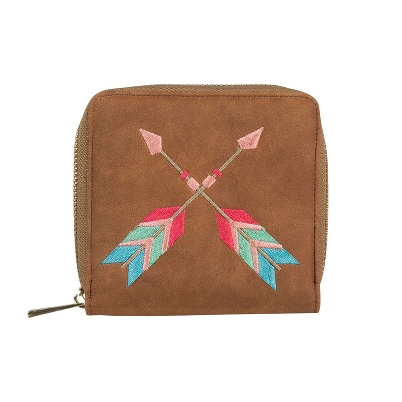 Catchfly Abiquiu Embroidered Arrow Wallet
