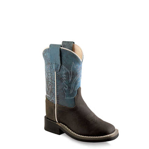 Old West Blue & Brown Toddler Western Boots