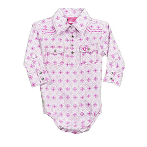 Cowgirl Hardware Infant Gypsy Pink Girls Romper