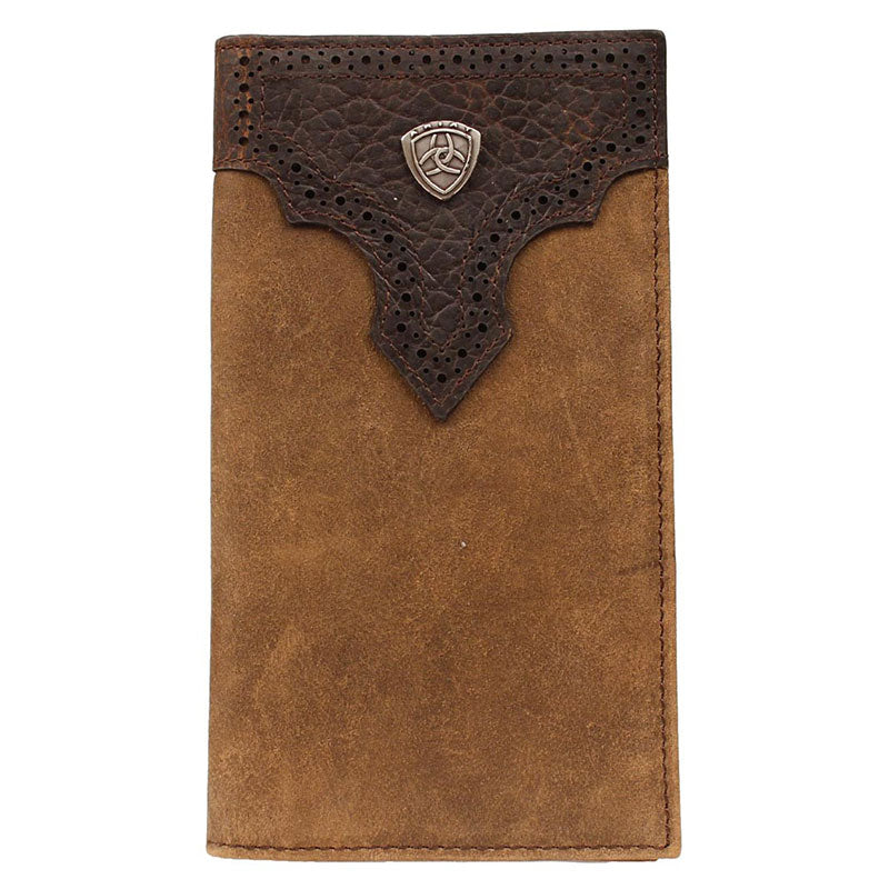 Ariat Distressed Brown Rodeo Wallet