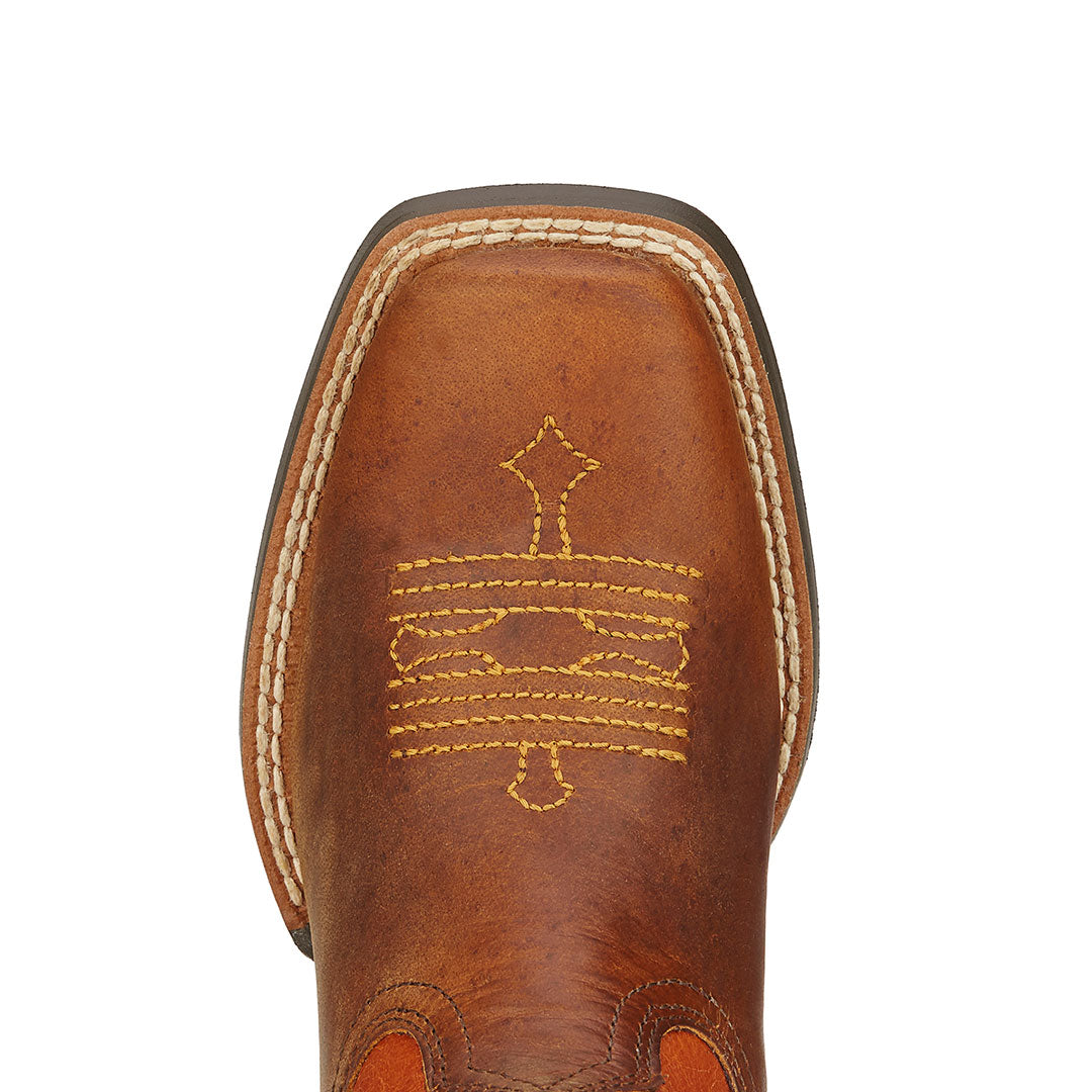 Ariat Tombstone Powder Brown Kids Cowboy Boot