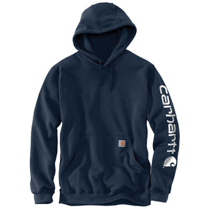 Carhartt Midweight Hooded Logo Mens Navy Sweatshirt