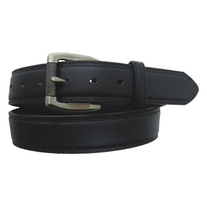 AndWest Black Leather Roller Buckle Belt