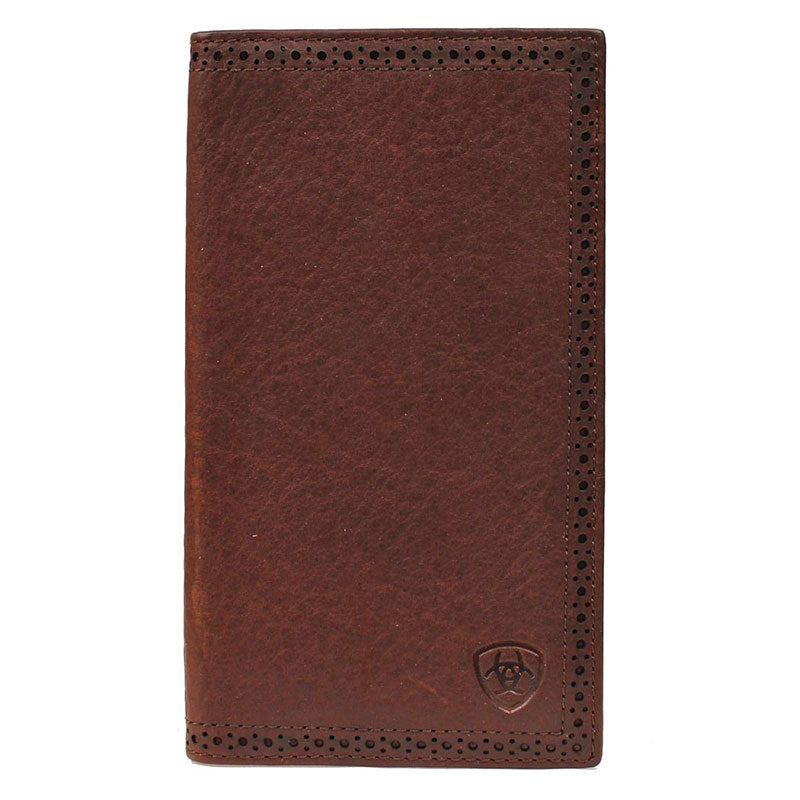 Ariat Men's Perforated Edge Distressed Rodeo Wallet