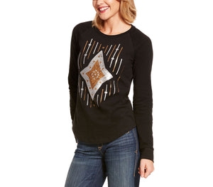 Ariat Ace of Diamonds Womens Black Shirt