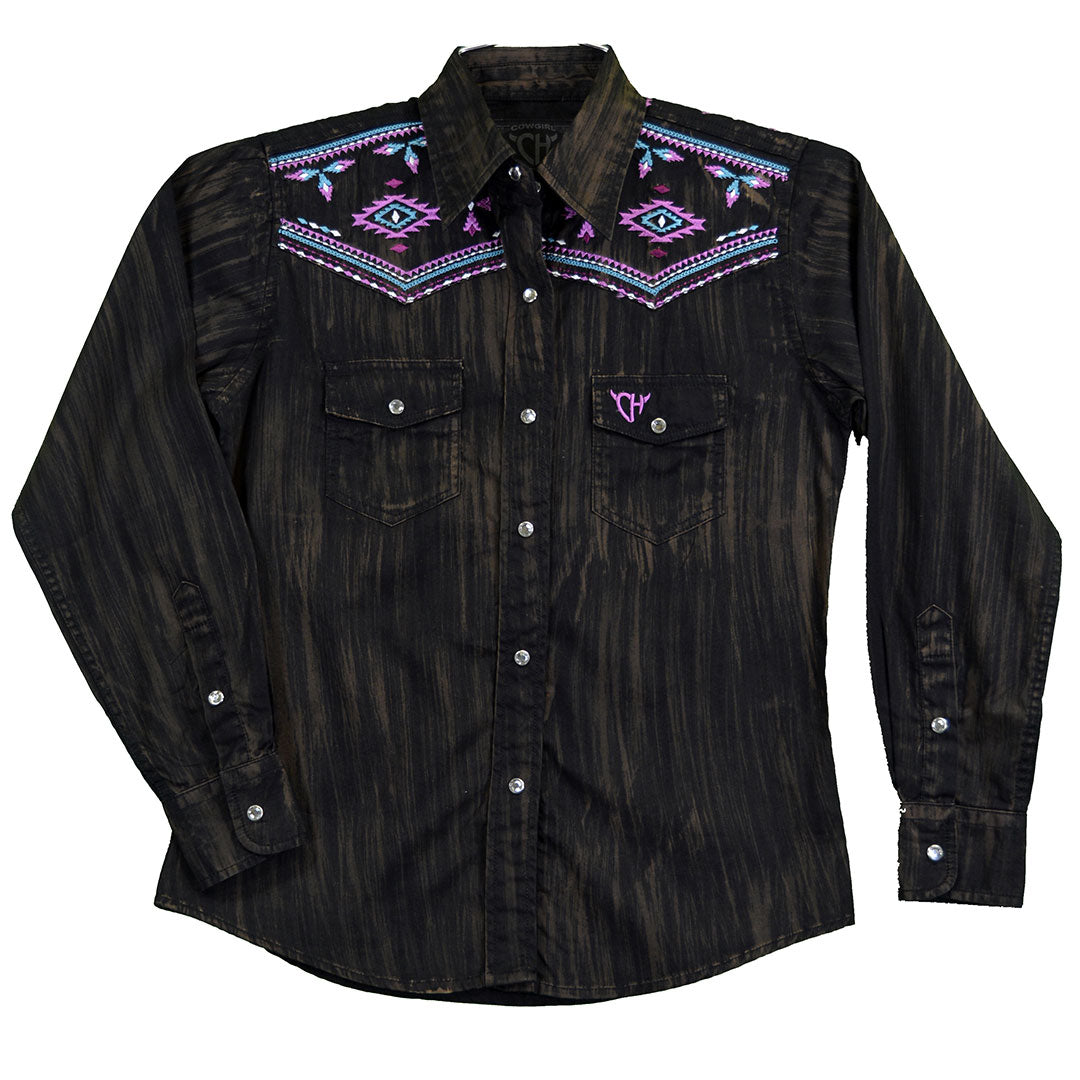 Cowgirl Hardware Brush Dye Shirt