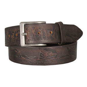 Wildlife Tooled Leather Belt
