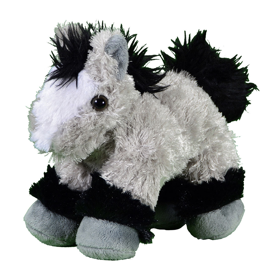 Cowboy Hardware Plush Play Grey & Black Pony