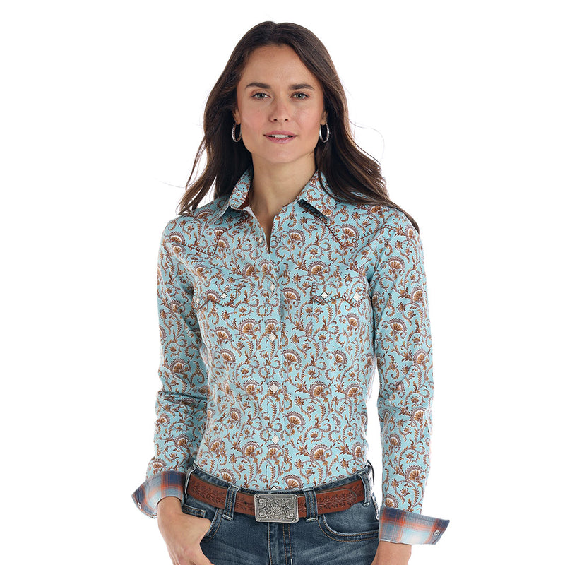 Rough Stock Blue Vintage Floral Shirt