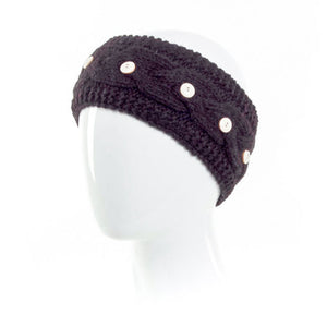 Laundromat Haven Black Cable Knit Womens Headband