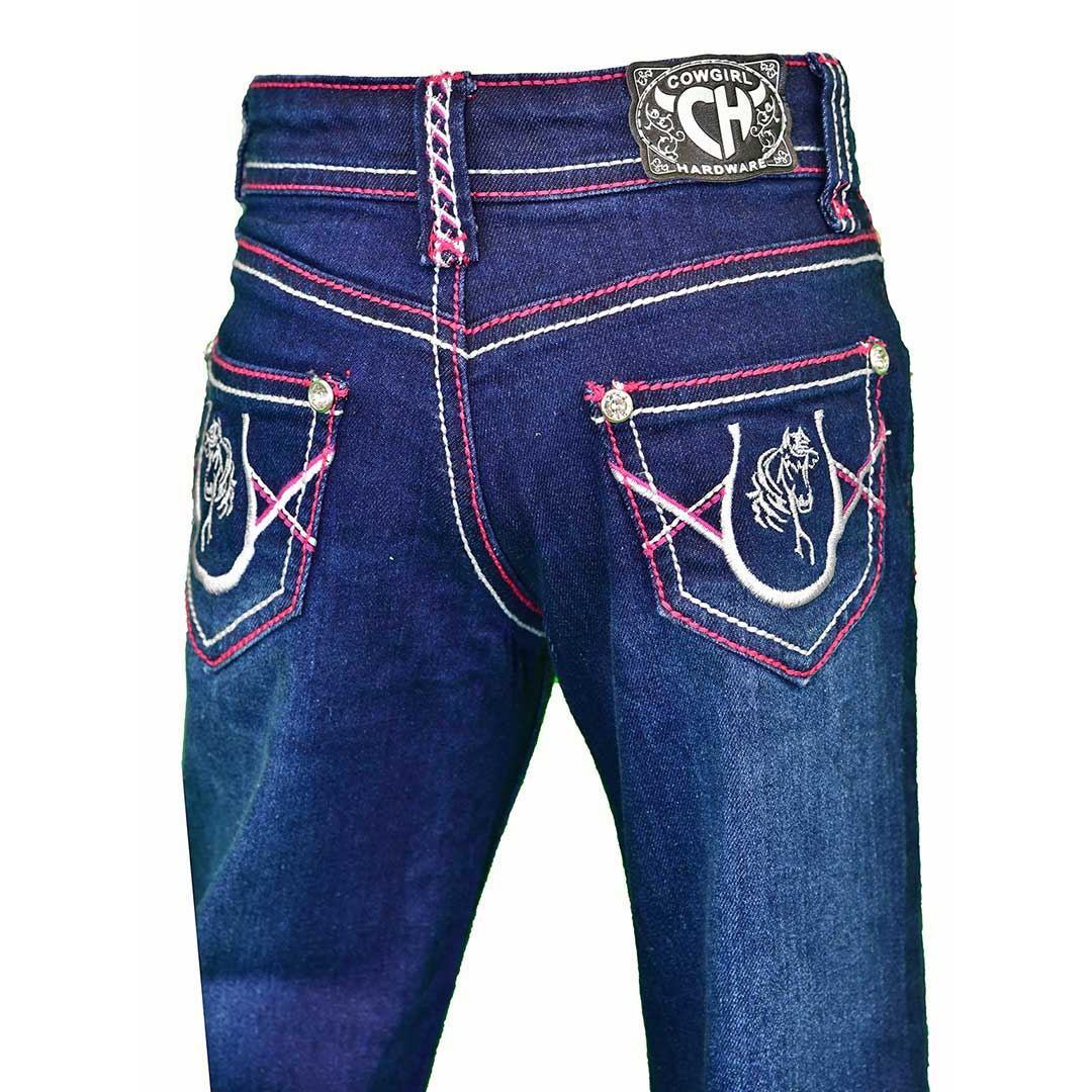 Cowgirl Hardware Toddler Girl's Horseshoe Bella Jeans