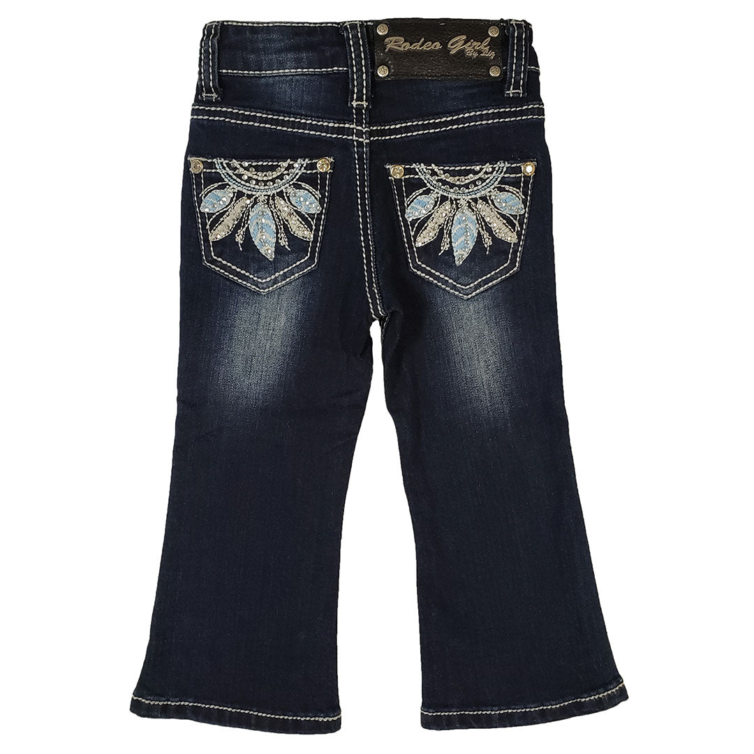 Cowgirl Collection Dream Feather Embroidered Toddler Jean