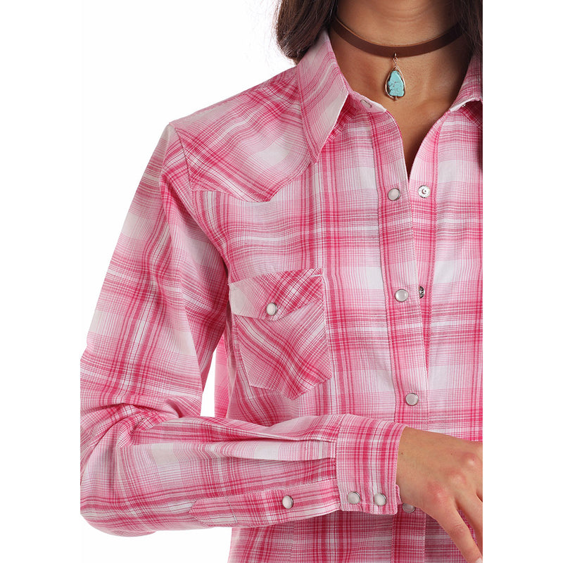 Panhandle Pink & White Plaid Shirt