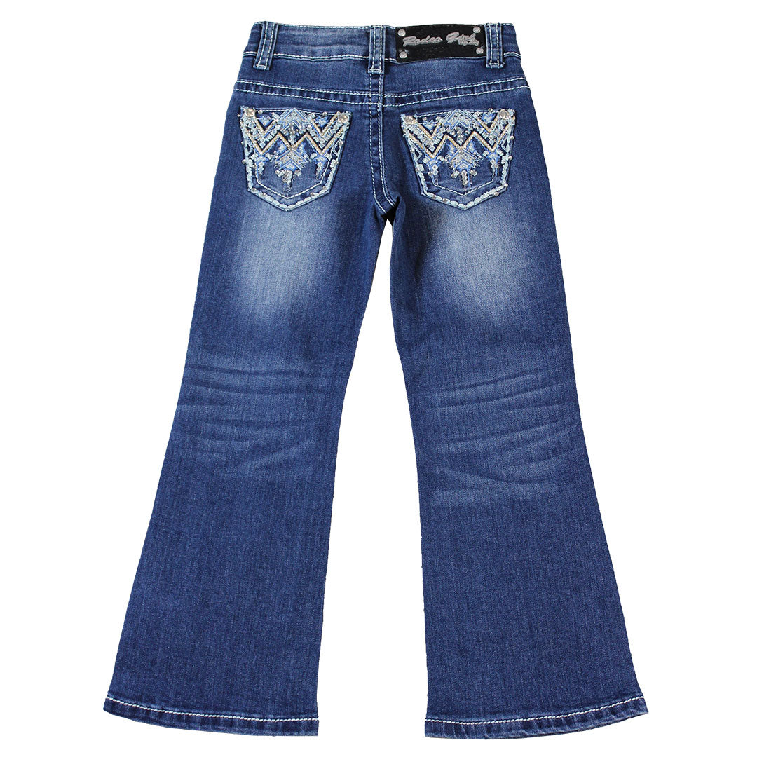 Rodeo Girl Aztec Embroidery Jeans