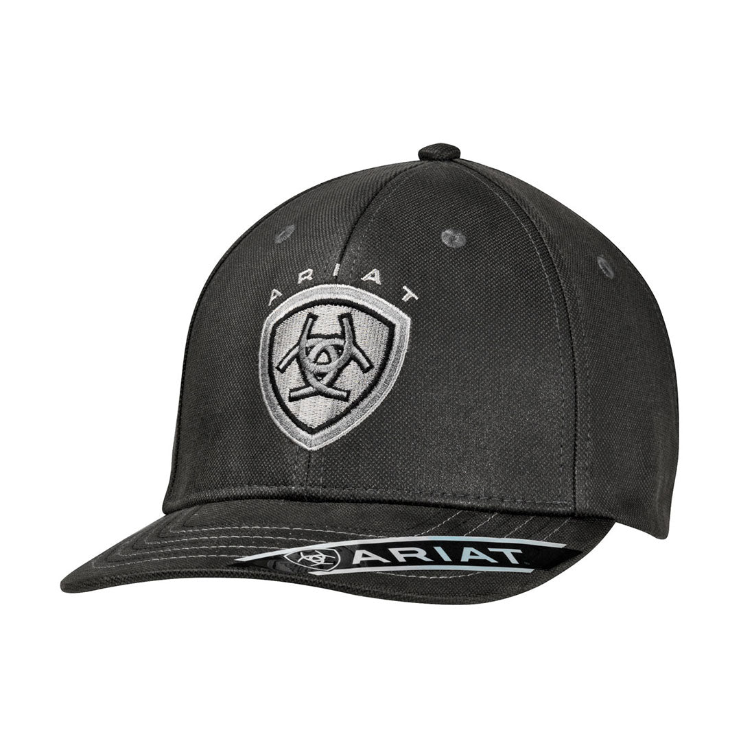 Ariat Black Oilskin Snap Back Cap