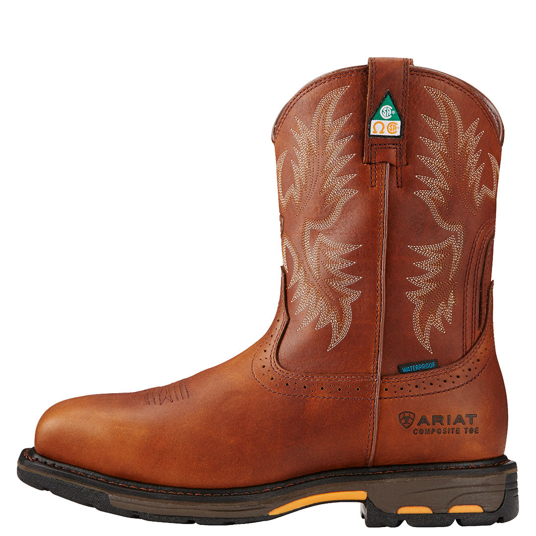 Ariat WorkHog Dark Copper H2O CSA Cowboy Boot