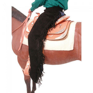 Tough-1 Black Suede Equitation Chaps
