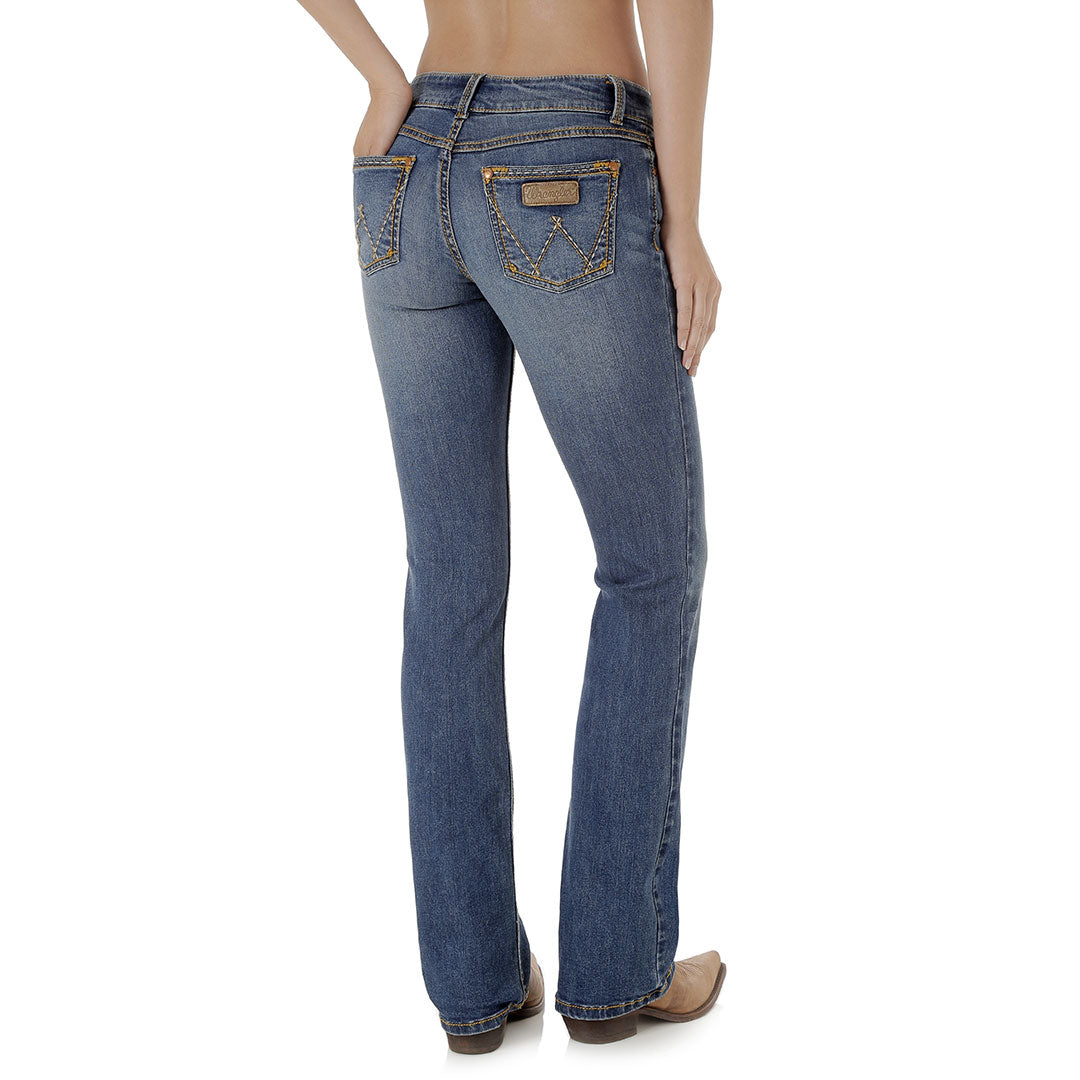 Wrangler Women's Retro Mae Mid Rise Bootcut Jeans