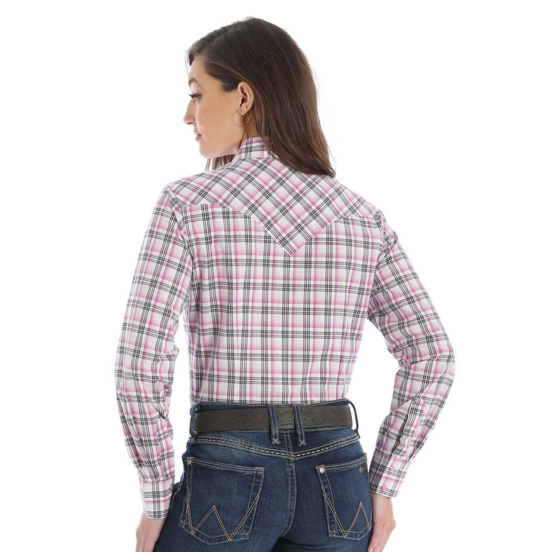 Wrangler Women's Tough Enough to Wear Pink Plaid Shirt