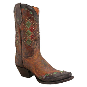 Dan Post Multi Color Stud Cowgirl Boots