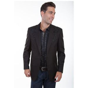 Scully Floral Embroidered Western Sport Coat