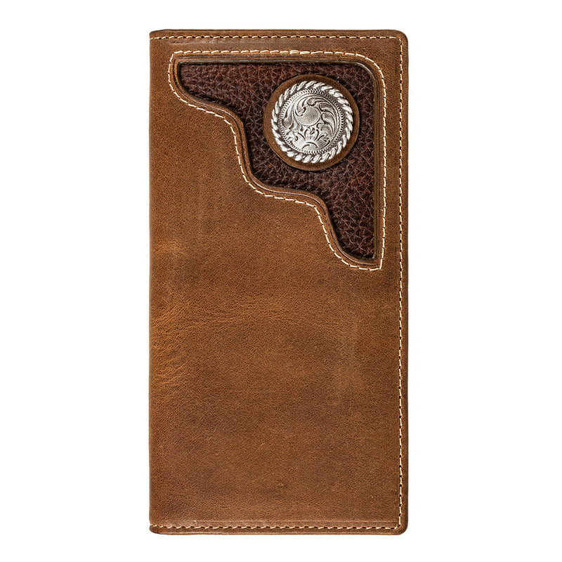 Wrangler Men's Tooled Inlay Rodeo Wallet