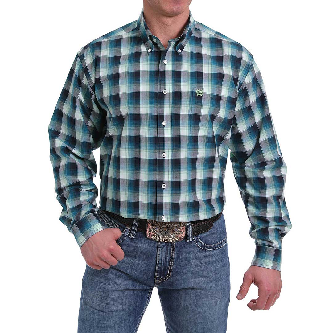 Cinch Men's Plaid Classic Fit Shirt