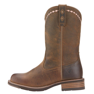 Ariat Unbridled Roper Distressed Brown Cowgirl Boots