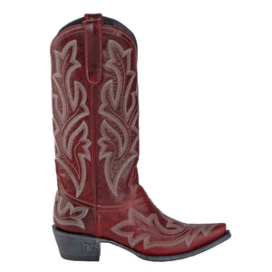 Lane Saratoga Red Cowgirl Boots