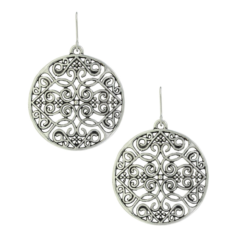 Montana Silversmiths Attitude Mosaic Filigree Earrings