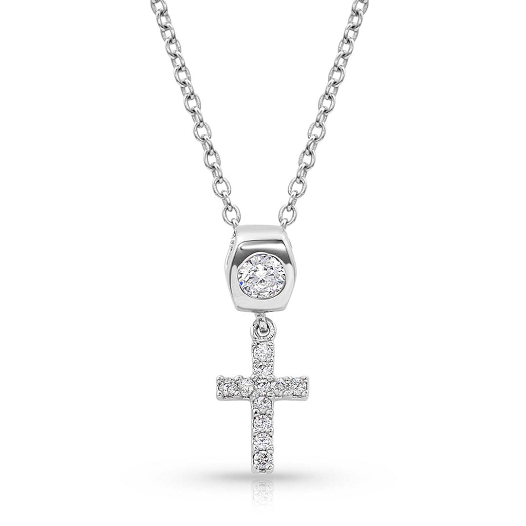 Montana Silversmiths Star Lights Faith Cross Necklace