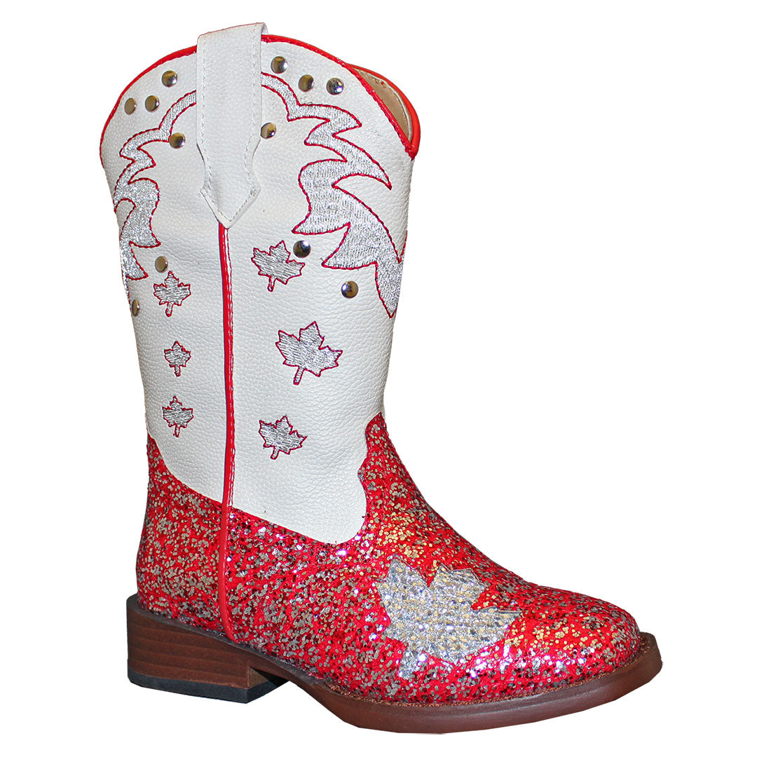 Roper Sparkly Canadian Kids Cowgirl Boots