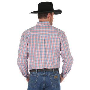 George Strait Blue & Orange Plaid Shirt