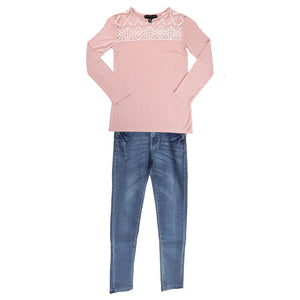 Silver Jeans Kids Toddler Girls Top & Jean Set