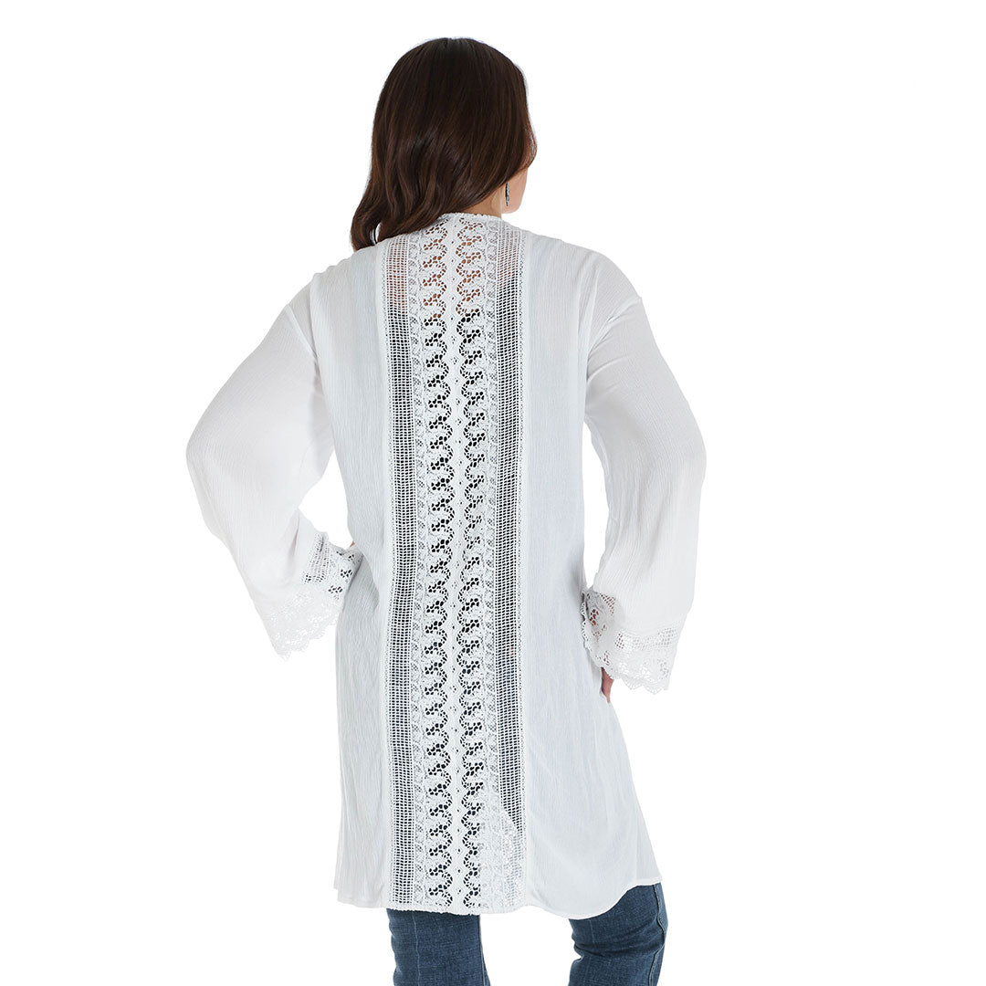 Wrangler White Lace Trim Duster