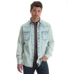 Rock 47® By Wrangler® Bleach Denim Shirt