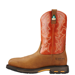 Ariat WorkHog Dark Earth Brick CSA Cowboy Boot