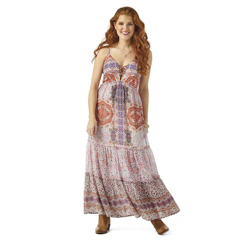 Wrangler Women's Retro Patchwork Print Maxi Dress