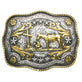 AndWest Praying Cowboy Scalloped Belt Buckle