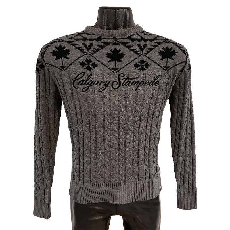Maple Leaf Cable Knit Calgary Stampede Sweater