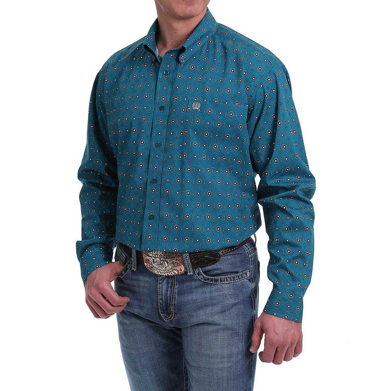 Cinch Men's Geometric Print Classic Fit Shirt