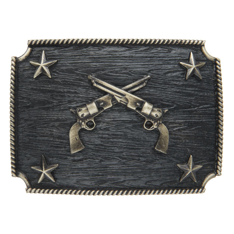 AndWest Iconic Crossed Pistols Rectangle Buckle