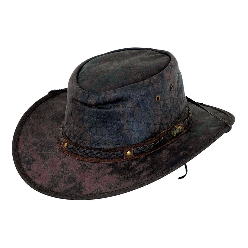 Outback Trading Co. Iron Bark Western Leather Hat