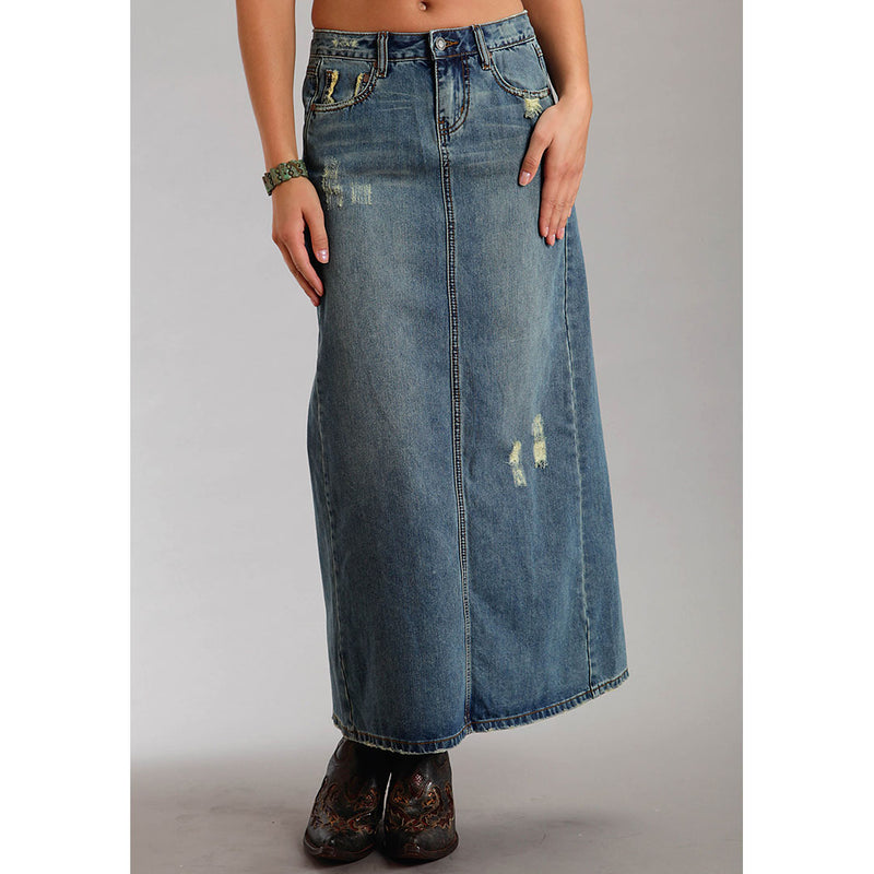 Stetson Women's Long Denim Skirt