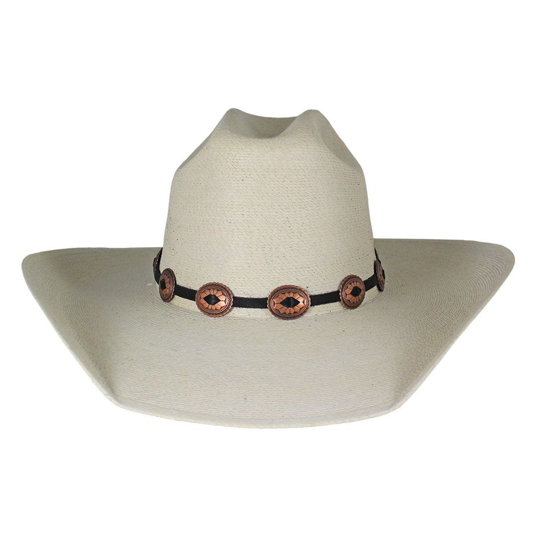 Austin Accent Black & Copper Small Concho Hat Band