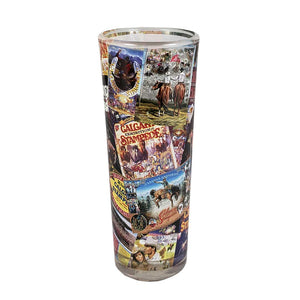 Calgary Stampede Poster Collage Tall Shot Glass